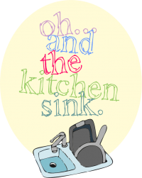 Oh… and the kitchen sink!